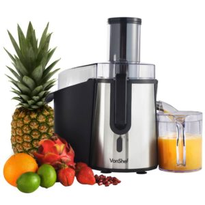 VonShef Professional Powerful 990W Whole Fruit Juicer
